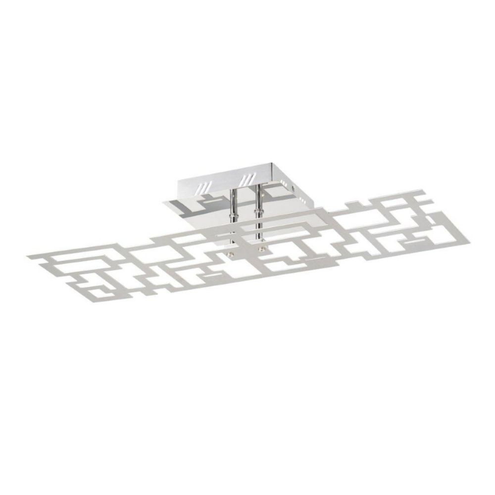 Metrix Collection 6 Light Rectangle Chrome LED Convertible Wall Sconce / Flushmount