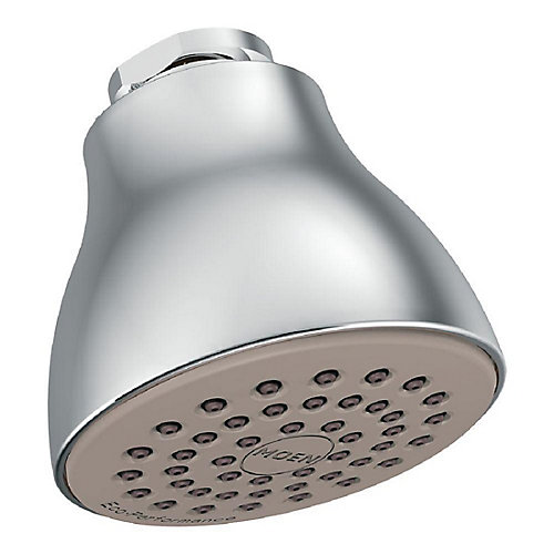 Pomme de douche éco-performante à fonction unique de 2 1/2po de diamètre, chrome