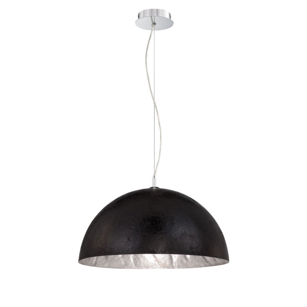 Metropol Collection 1 Light Black/silver Pendant
