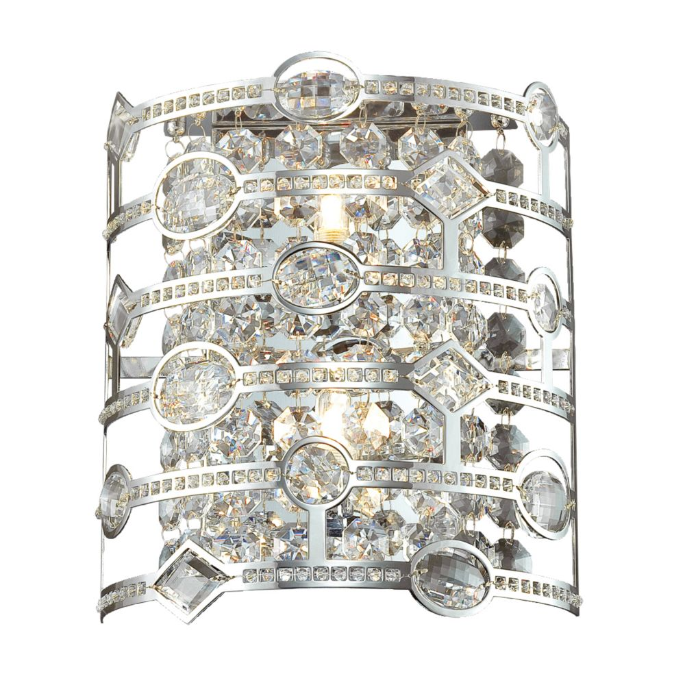 Mica Collection 2 Light Chrome Wall Sconce