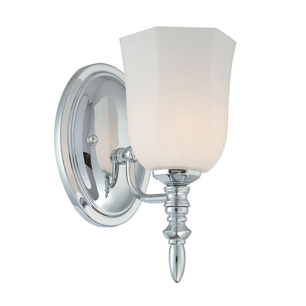 Llody Collection 1 Light Chrome Wall Sconce
