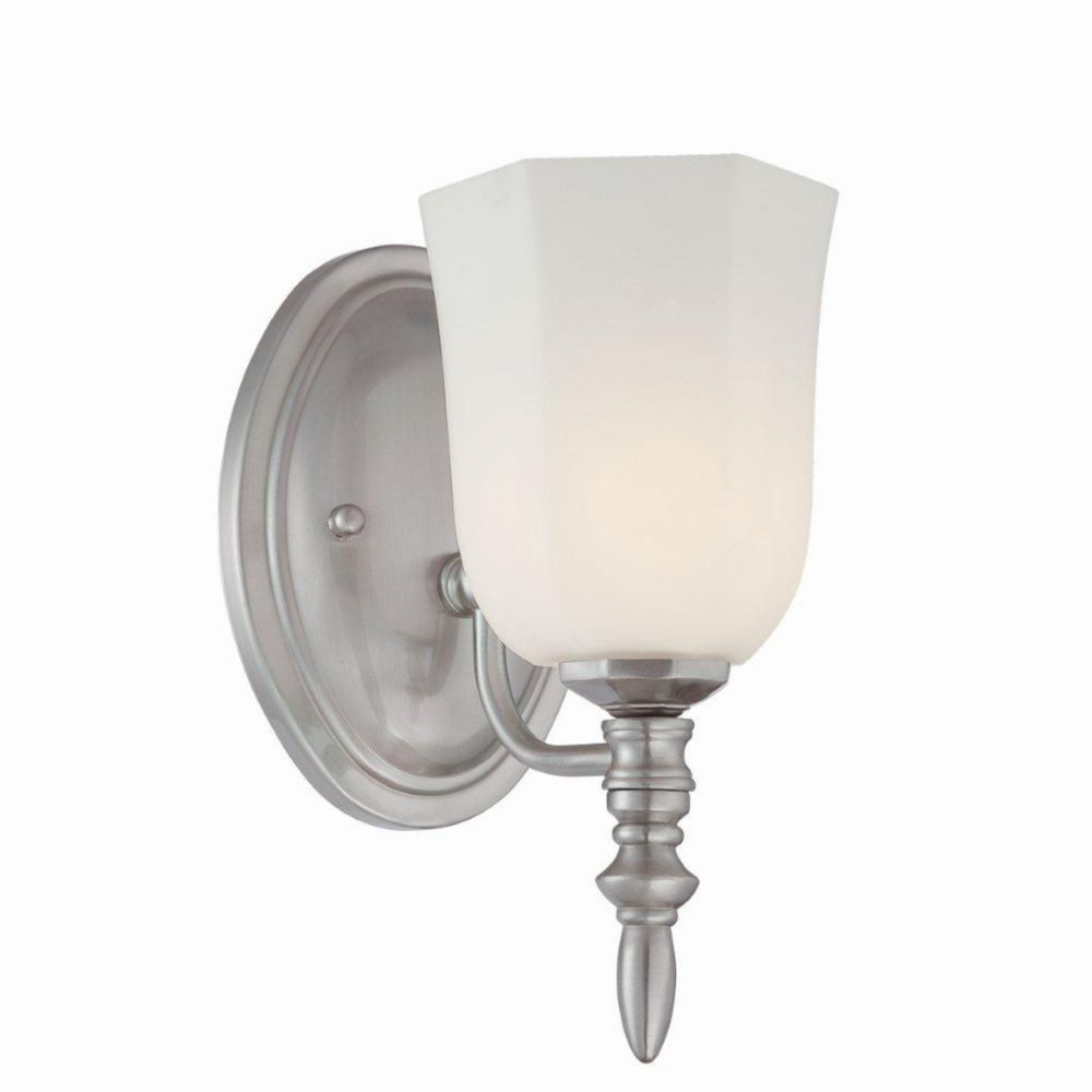 Llody Collection 1 Light Satin Nickel Wall Sconce