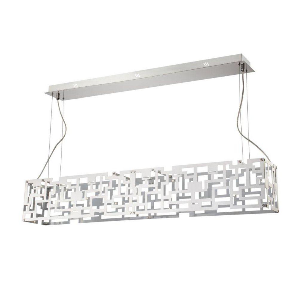 Metrix Collection 28 Light Chrome LED Pendant