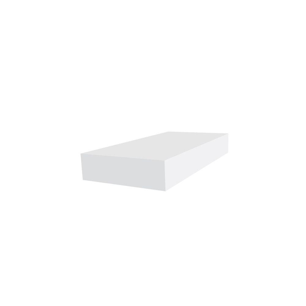 1 Inch x 4 Inch x 12 Feet PVC Trim Board White