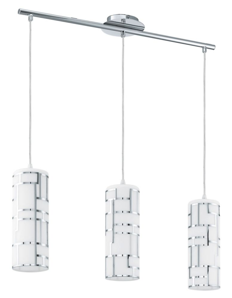 Bayman 3 Light Hanging Chrome Finish With Opal Glass 200286A Canada Discount