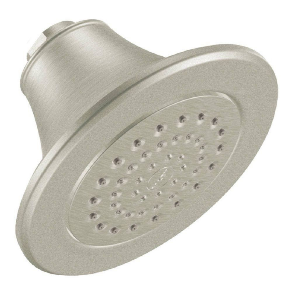 Pomme de douche à fonction unique xlt de 5 7/8po de diamètre, nickel brossé