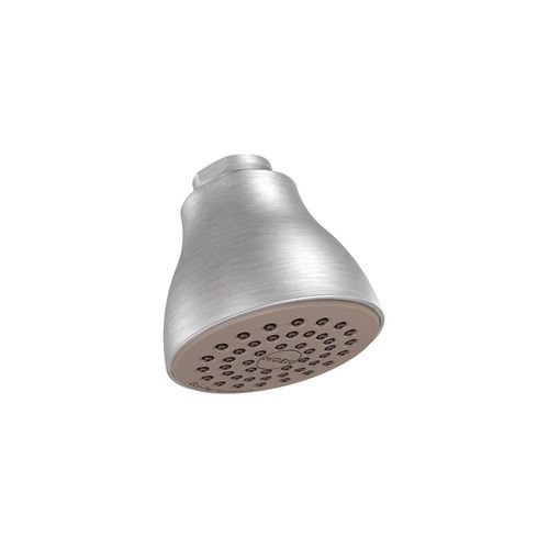 "Brushed chrome one-function 2-1/2"" diameter eco-performance showerhead"