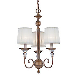 Eurofase Locksley Collection 3 Light Chandelier