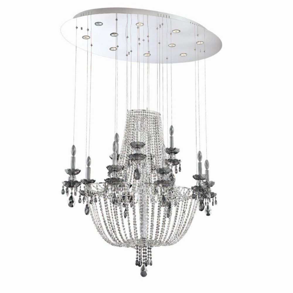 Opera Collection 10 Light Chrome Chandelier