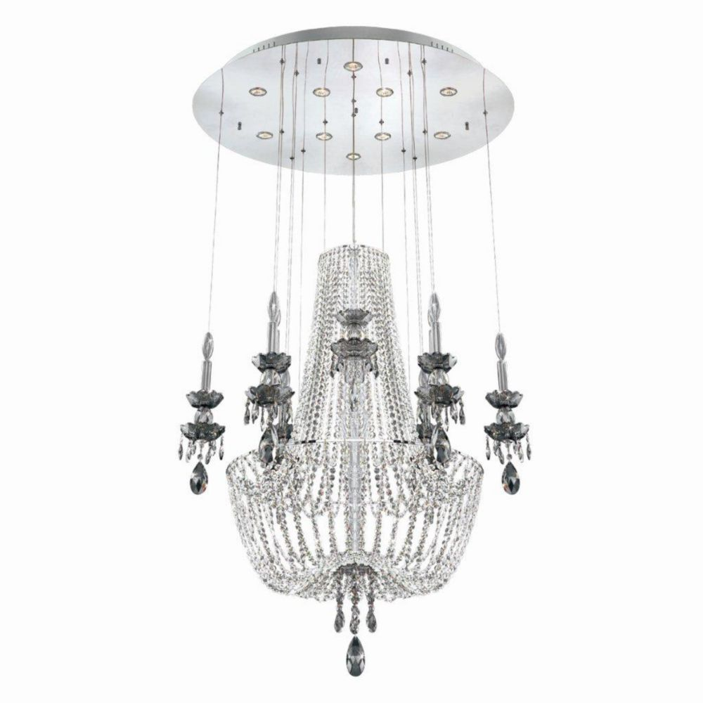 Opera Collection 9 Light Chrome Chandelier