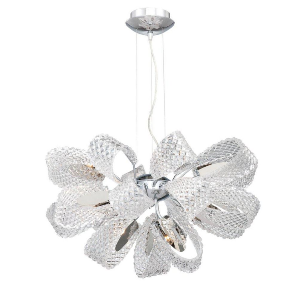 Origami Collection 11 Light Chrome Chandelier