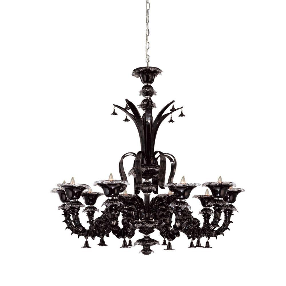 Eurofase Orillia Collection 10 Light Black Chandelier