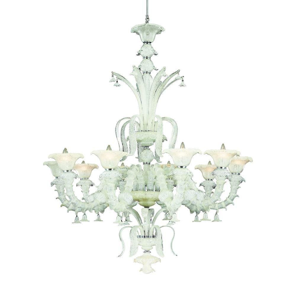 Orillia Collection 10 Light White Chandelier