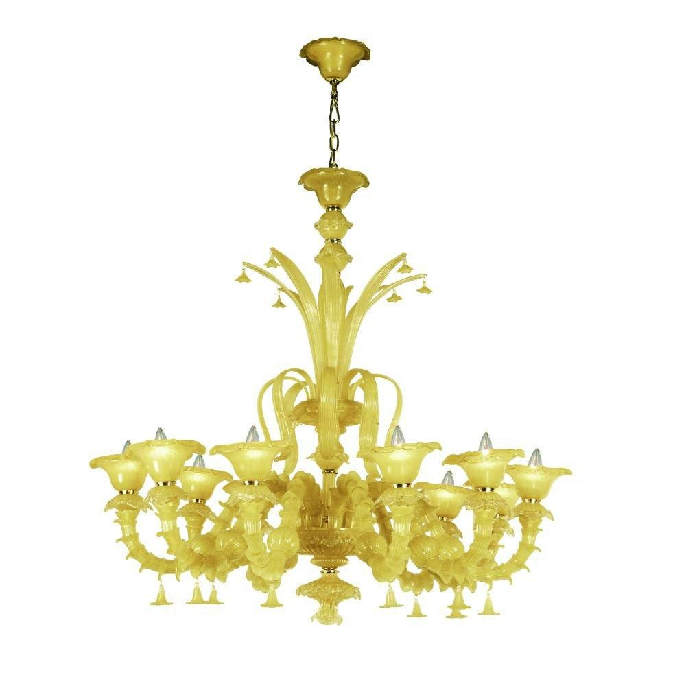 Orillia Collection 10 Light Amber Chandelier