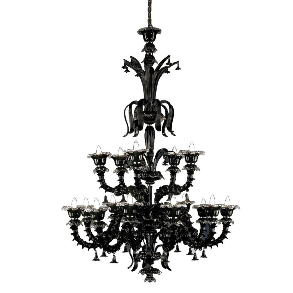 Orillia Collection 15 Light Black Chandelier
