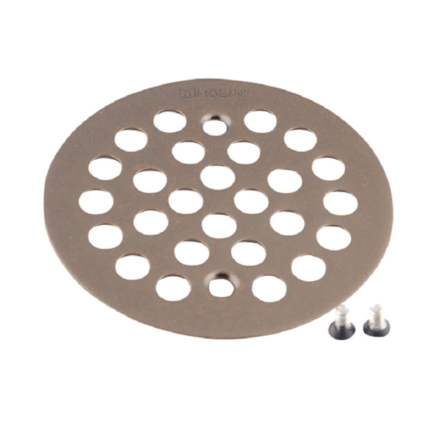 Moen 4-1/4 inch Tub and Shower Drain Cover for 2-5/8 inch Opening in Oil Rubbed Bronze