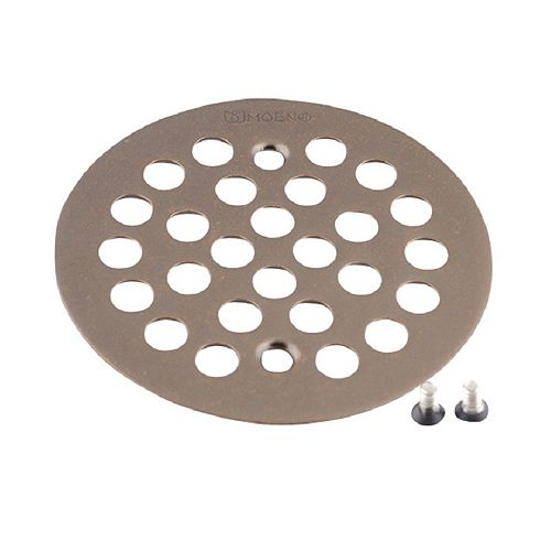 MOEN 4-1/4-inch Tub and Shower Drain Cover for 2-5/8-inch Opening in Oil Rubbed Bronze
