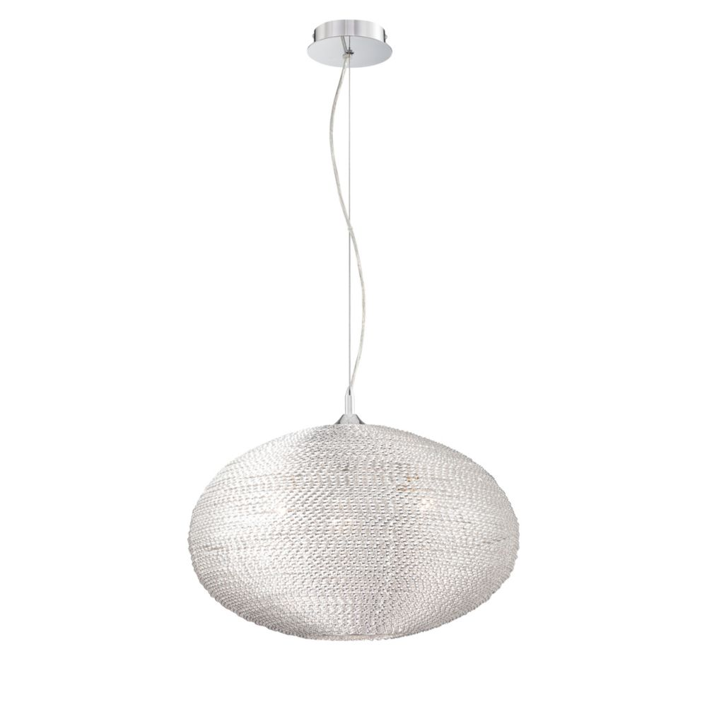 Otra Collection 3 Light Large Silver Pendant