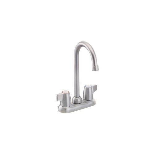 Chateau 2-Handle Bar Faucet in Brushed Chrome