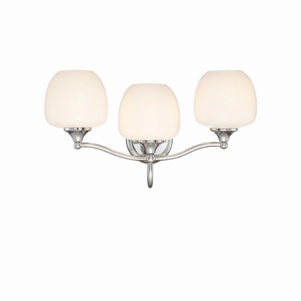 Paloma Collection 3 Light Chrome Bathbar