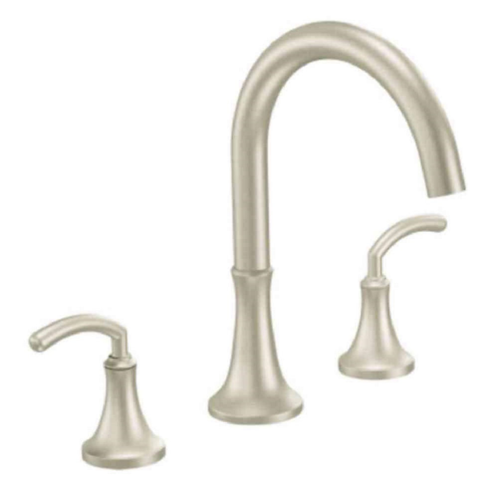 Icon 2-Handle Roman Bath Faucet in Brushed Nickel (Valve Sold Separately)
