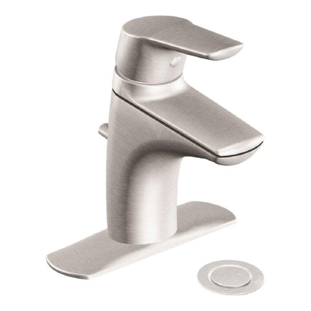 Moen Method Single Hole 1-Handle Low Arc Bathroom Faucet with Lever Handle in Brushed Nickel