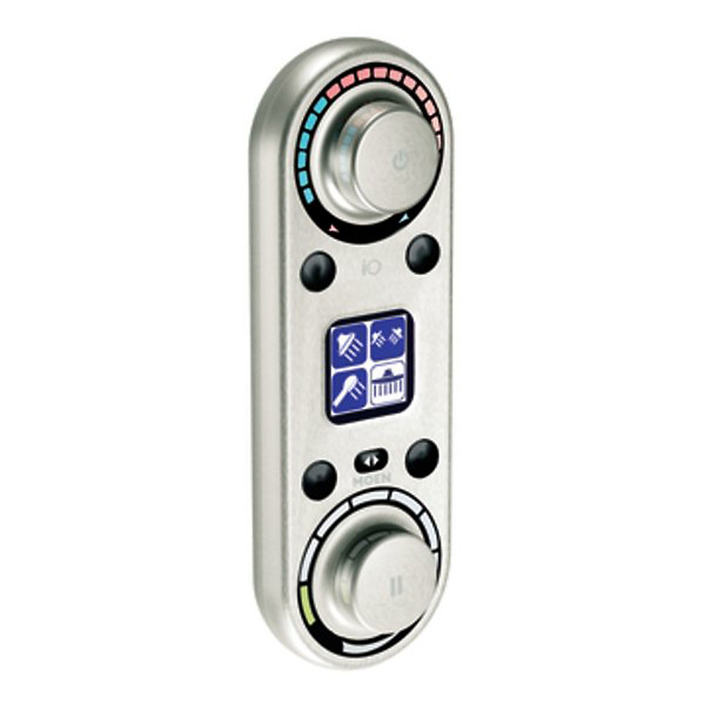 IO Digital Vertical Spa Digital Control in Brushed Nickel