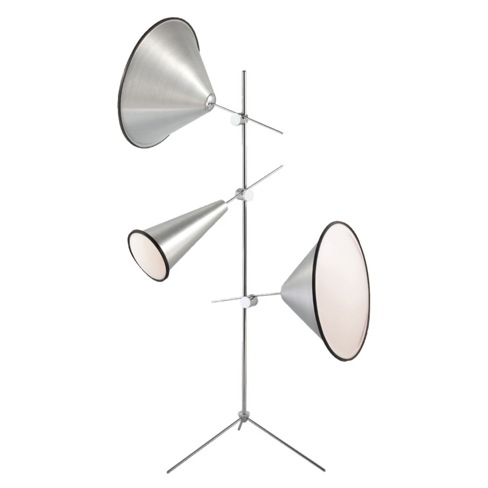 Eurofase Manera Collection 3 Light Aluminum Floor Lamp