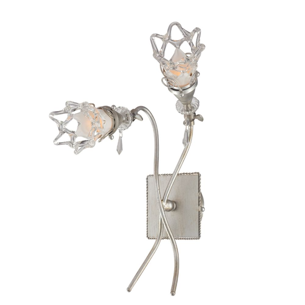 Mara Collection 2 Light Antique Silver Wall Sconce