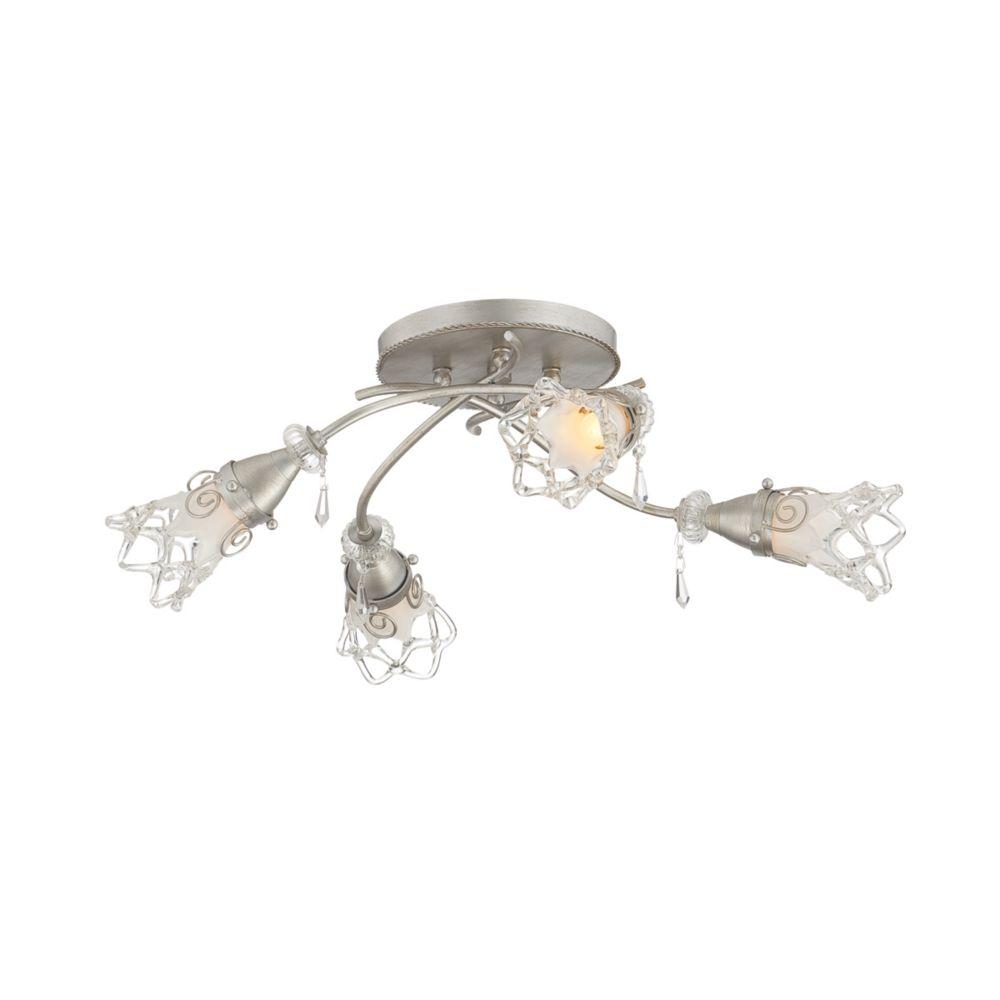 Semi-Plafonnier à 4 Lumières, Collection Mara
