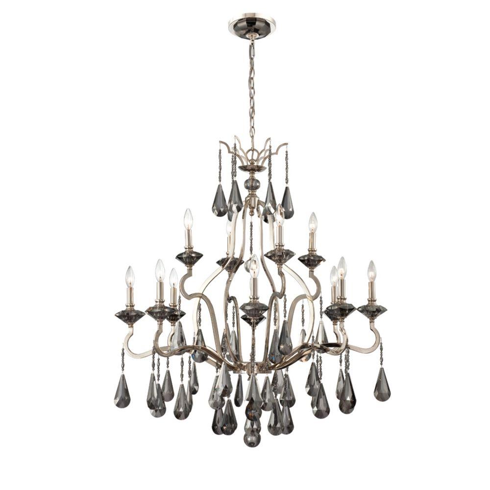 Rosini Collection 12 Light Polished Nickel Chandelier