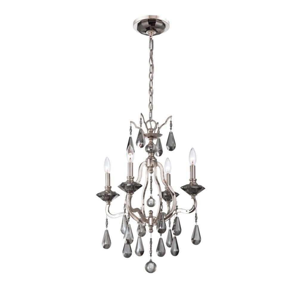Rosini Collection 4 Light Polished Nickel Chandelier