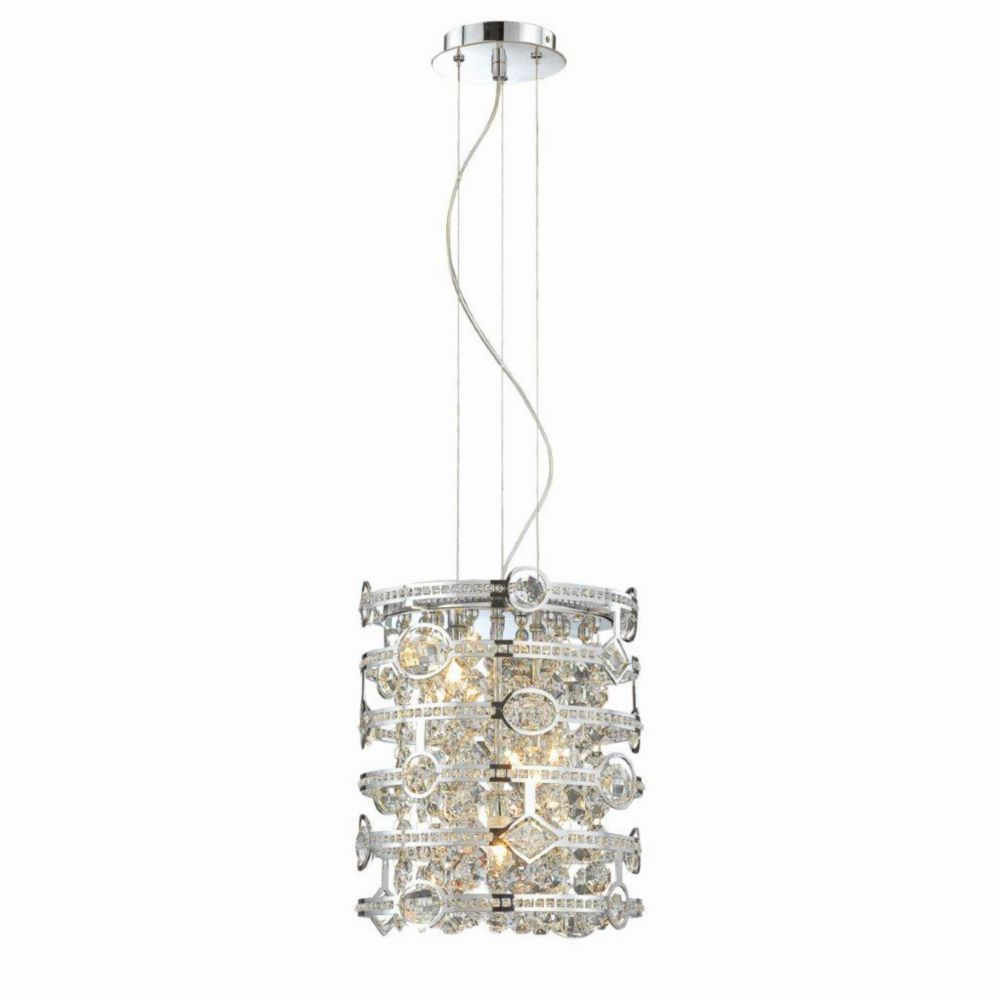 Mica Collection 3 Light Chrome Pendant