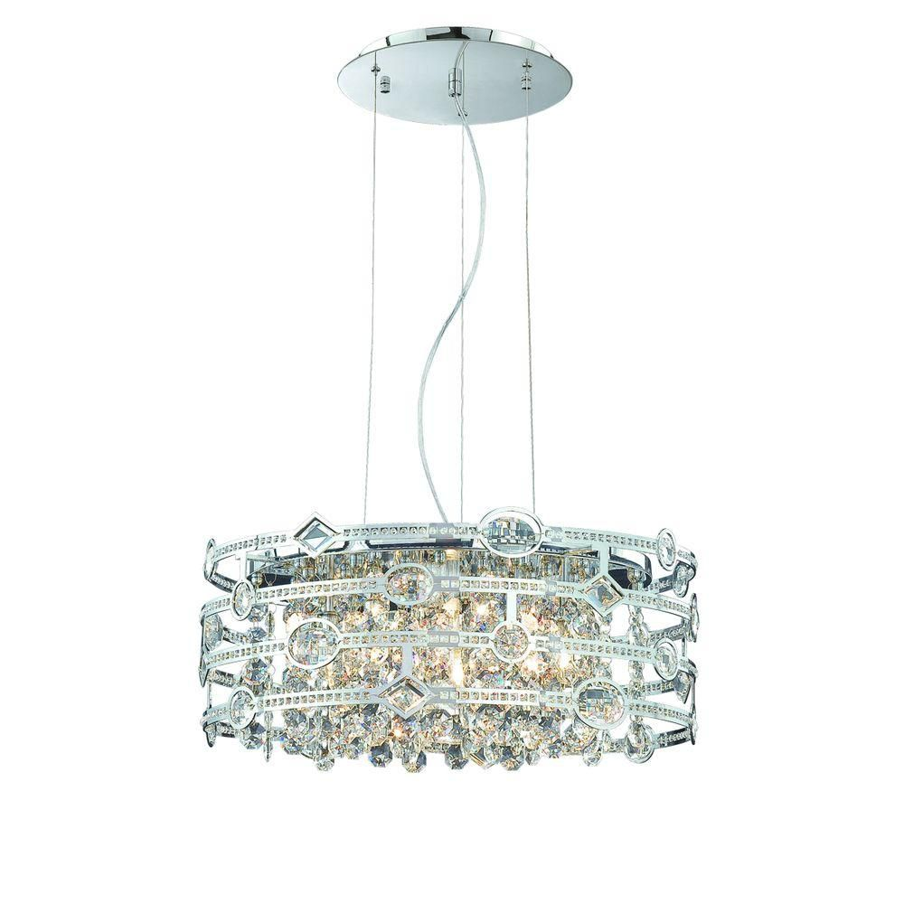 Mica Collection 6 Light Chrome Pendant