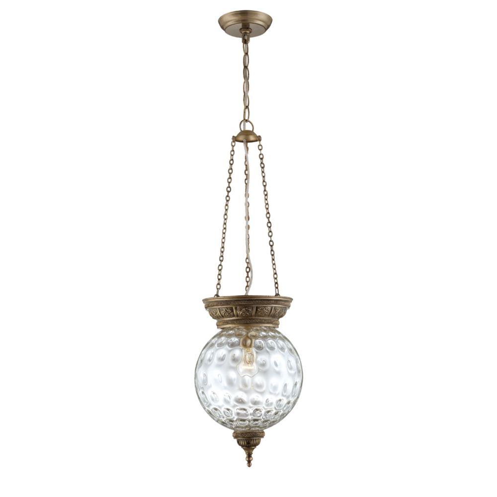 Nella Collection 1 Light Antique Brass Pendant