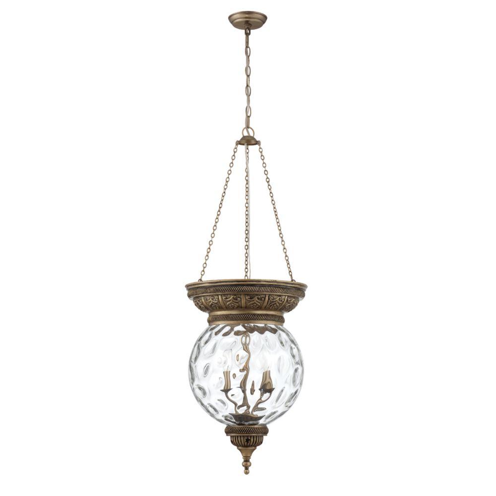 Nella Collection 3 Light Antique Brass Pendant