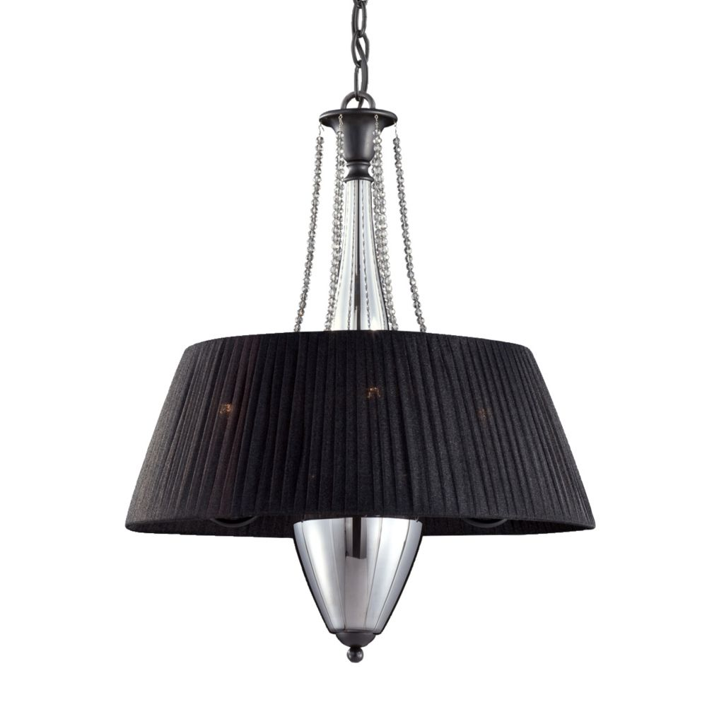 Nero Collection 4 Light Black Pendant