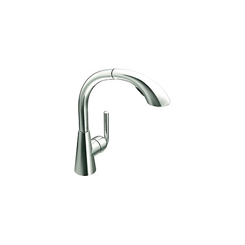 Ascent Single-Handle with Pullout Spout Kitchen Faucet in Chrome
