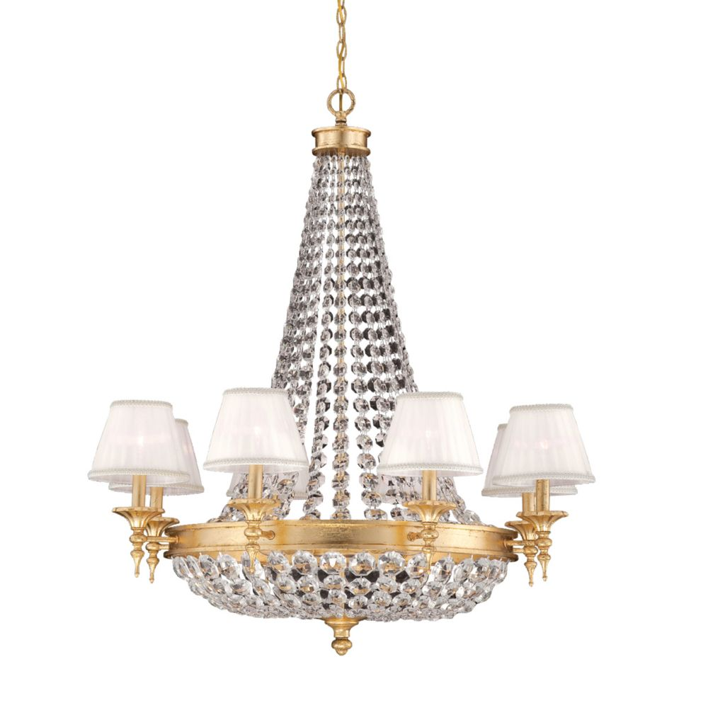 Pietra Collection 12 Light Gold Chandelier