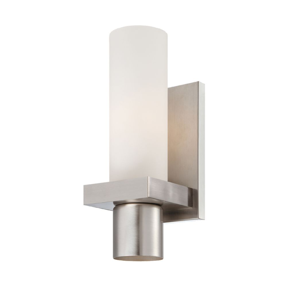 Pillar Collection 1 Light Brushed Nickel Wall Sconce