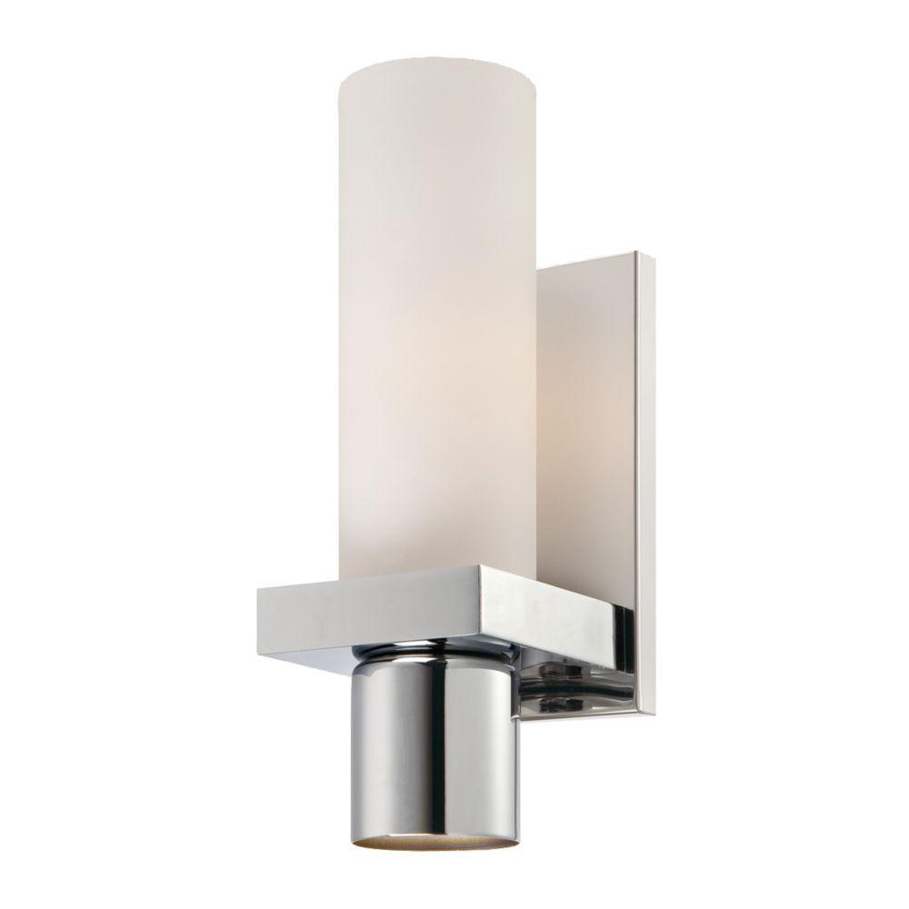 Eurofase Pillar Collection 1 Light Chrome Wall Sconce