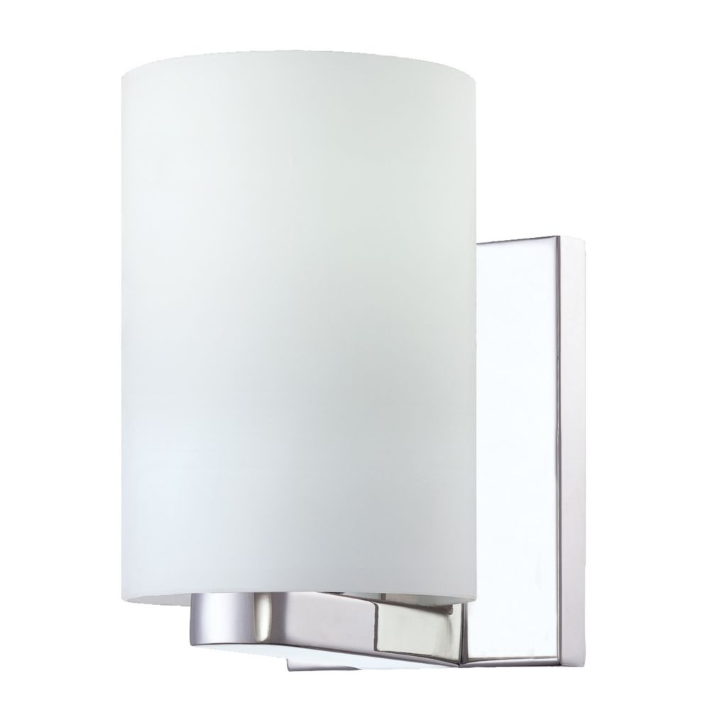 Pilos Collection 1 Light Chrome Wall Sconce