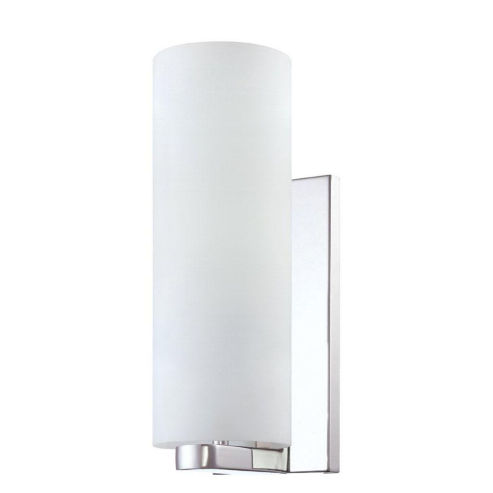 Pilos Collection 1 Light Tall Chrome Wall Sconce