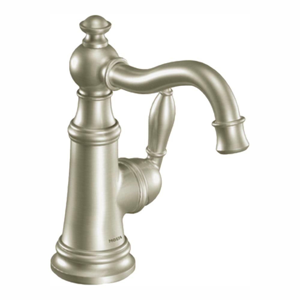 Weymouth Single Handle High Arc Bathroom Faucet in Brushed Nickel S42107BN Canada Discount