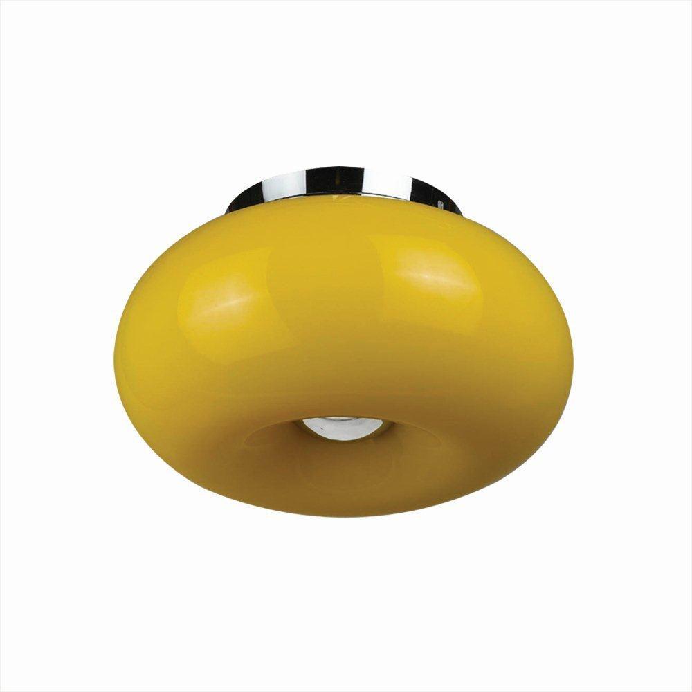 Pop Collection 2 Light Yellow Convertible Pendant Flushmount