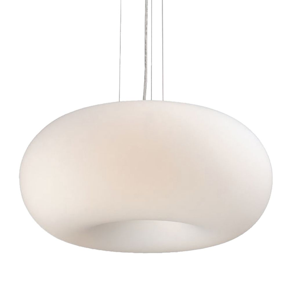 Pop-2 Collection 3 Light White Convertible Pendant Flushmount