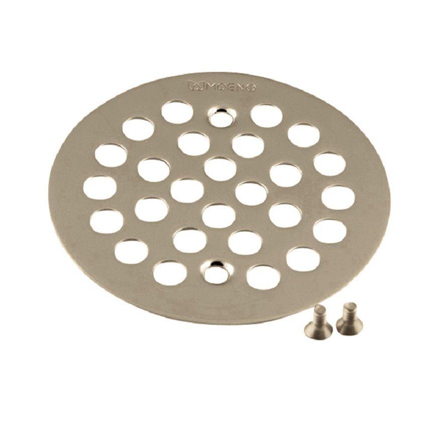 Bouchon de drain pour baignoire/douche, nickel brossé