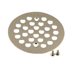 MOEN Brass Tub and Shower Drain Cover in Brushed Nickel