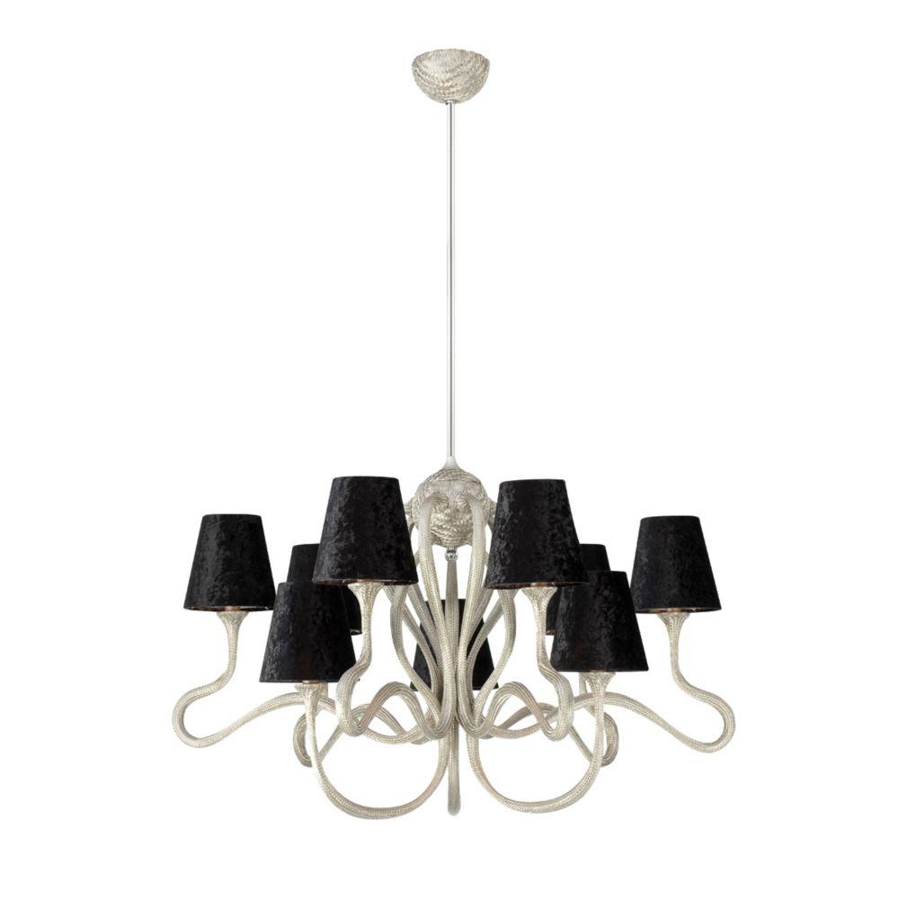 Prima Collection 9 Light Chrome & Black Chandelier