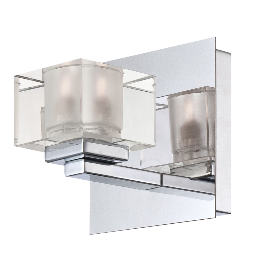 Prism Collection 1 Light Chrome Wall Sconce